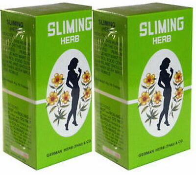 2 Boxes 100 Bags GERMAN SLIMING HERB TEA Slimming Weight Loss calories burning