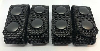 Belt Keepers, 3mm Thick, Duty Belt, Police / security Eq, Black, 4 x Item