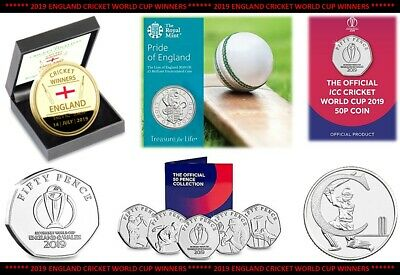 2018 2019 England World Cup 50p £5 Coins Medals - Choose Your Coin