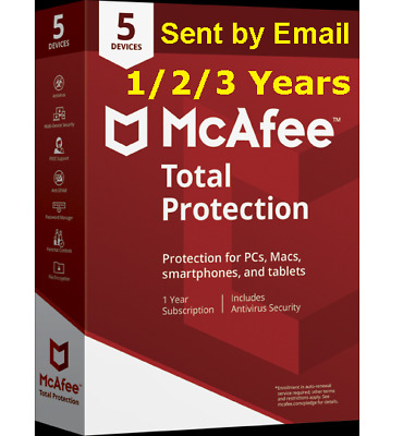 Mcafee Total Protection 2019 5 Devices 1/2 3 Years Antivirus Download Version