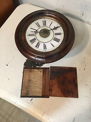 Antique Black Forest Or English Postmans Wag On Wall Clock Lovejoy Wimbeldon