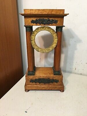 Antique French Portico Mantle Clock Case Empire 4 Column Restoration Project