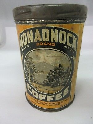 Vintage Monadnock  Coffee With Original Lid  Advertising Collectible 821-W