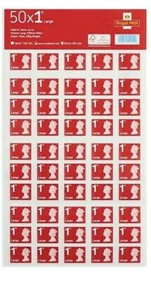 1 X 50  Brand New 1st class Royal mail large letter stamps (50 Stamps)