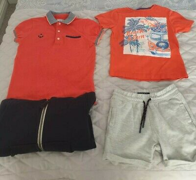 boys bundle summer coral navy grey Mayoral next shorts set age 2 to 3 years