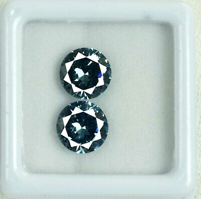Russian Color Changing Alexandrite Round Gemstone Pair 4.80 Ct AGSL Certified
