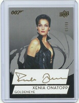 2019 James Bond 007 UD Famke Janssen Xenia Onatopp GOLD autograph auto card /99
