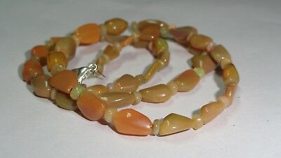 """49 Cts Natural Ethiopian Opal Welo Fire Loose Gemstone Beads 16"""" Inch 0165"""