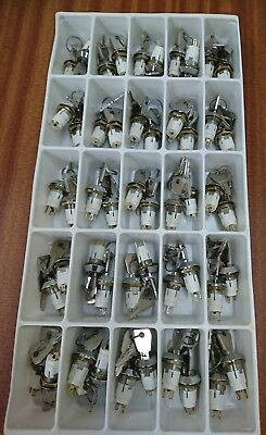 Box Of 50 Lorlin Keyswitches - Spdt - Common Key ( 901)