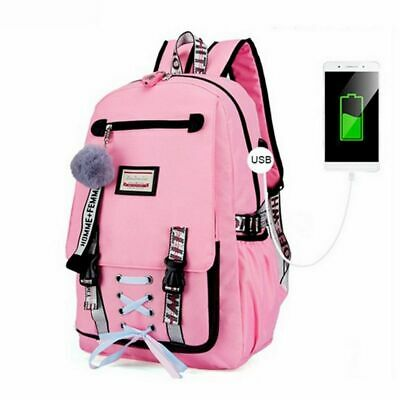 School Bag For Teenager Girls USB With Lock Anti Theft Backpack Big Capacity