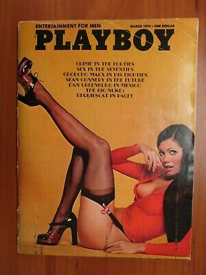 Vintage Complete Playboy Magazine March 1974 Debbie Shelton