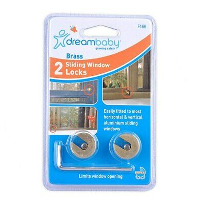 NEW Dreambaby Sliding Brass Window Locks 2 Pack from Baby Barn Discounts