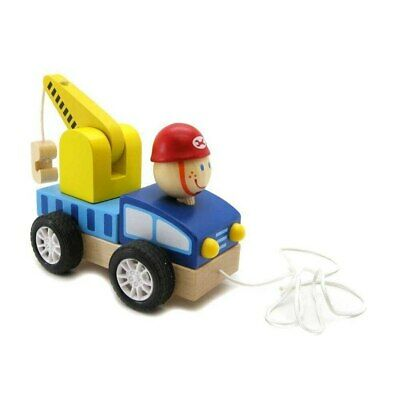 NEW Pull Along Crane Wooden Toy from Baby Barn Discounts