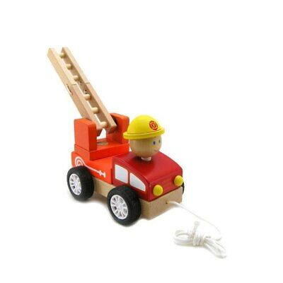 NEW Pull Along Fire Engine Wooden Toy from Baby Barn Discounts