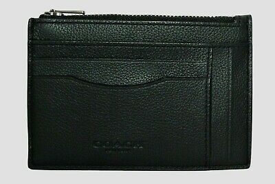 Coach Credit Card Holder Mens ID Case Signature C Canvas Leather  F66649 F66550