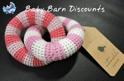 Emotion & Kids - Red & Pink Crochet Ring Baby Rattle