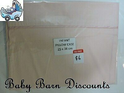 NEW Infant Bassinet Pillowcase 25 x 38 cm - Pink from Baby Barn Discounts