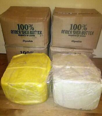 RAW AFRICAN SHEA BUTTER Unrefined Organic 100% Pure GHANA 8 OZ *Choose COLOR*
