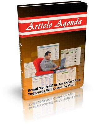 Article Agenda PDF eBook with Master Resell Rights MRR