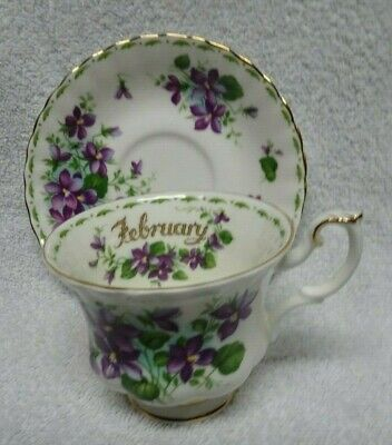 Royal Albert Flower of the Month February Violets    Cup and Saucer