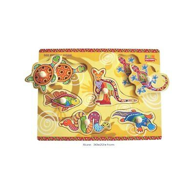 NEW Fun Factory Wooden Aboriginal Puzzle from Baby Barn Discounts