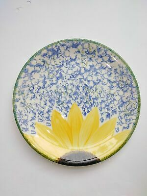Poole Pottery Vintage Vincent Sunflower Plate Cup Bowl Hand Painted England