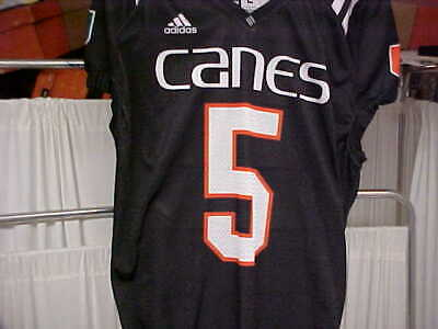 detailed pictures 1ab9c f346d UNIVERSITY OF MIAMI Game Used Football Jersey Size 42 #98 ...