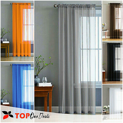 Slot Top Voile Net Panels, Voiles Curtains, Many Sizes & Colours, Top Quality