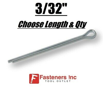 "3/32"" Diameter Cotter Pin Keys Split Zinc Plated (All Sizes)"