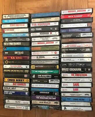 Huge Cassette Lot Of 75+ Tapes Jazz Blues Soul Reggae Rock Heavy Metal Bob Dylan