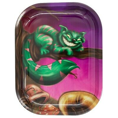 """Metal Rolling Tray """"Cheshire Cat"""" 7 x 5.5 - Free Same Day Express Shipping"""