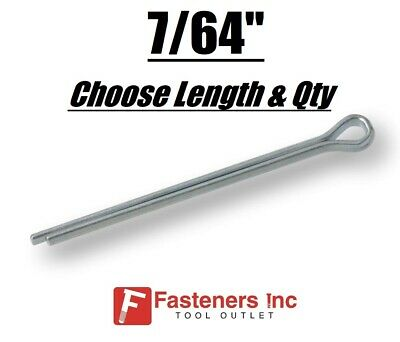 "7/64"" Diameter Cotter Pin Keys Split Zinc Plated (All Sizes)"