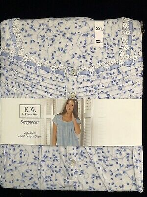 NEW! Eileen West Cap Sleeve Short Length Nightgown Gown XXL FREE SHIPPING