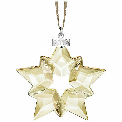 2019 Swarovski Crystal SCS ANNUAL EDITION LARGE GOLD STAR ORNAMENT 5429596 NIB
