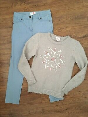 Bundle Jeans And Top Girls 9-10 Years