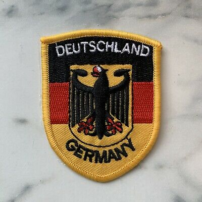 Deutschland Flagge Germany Flag Iron On Patch Badge Wappen Adler Eagle
