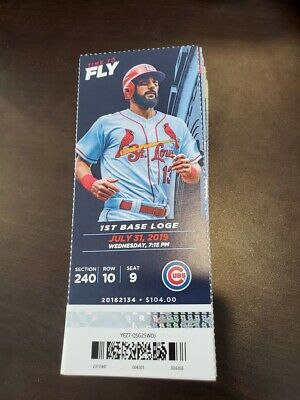 St Louis Cardinals Chicago Cubs MINT Season Ticket 7/31/19 2019 MLB Stub
