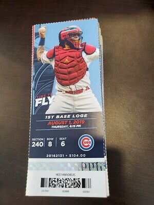 St Louis Cardinals Chicago Cubs MINT Season Ticket 8/1/19 2019 MLB Stub