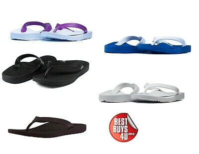Archline Balance Orthotic Arch Support Thongs Flip Flops - Size 35-47