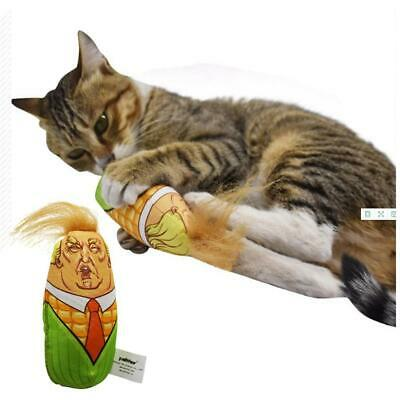 Cat Toys Stuffed Plush Corn Pet Funny Interactive Teaser Catnip Squeaky Gifts