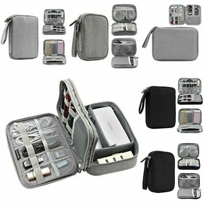 Electronic Accessories Storage USB Cable Organizer Case Drive Travel Bag Insert