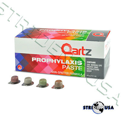 Prophy Paste Cups Assorted Coarse Grit 200 Cups Per Box 1.23% Fluoride