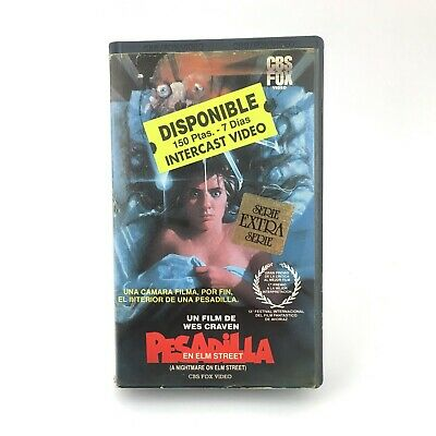 PESADILLA EN ELM STREET ·  Wes Craven Heather Langenkamp TERROR SLASHER CULT VHS