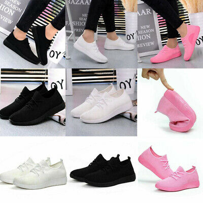 Women Ladies Lace Up Walking Trainers Sport Running Sneakers Pumps Shoes Size2-6