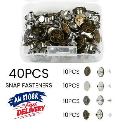 40Pcs Jeans Button Metal Buttons Tack Replacement Kit Repair For Sewing Pants.
