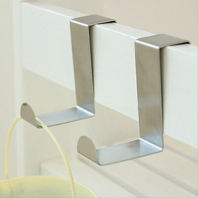 2/4/10x Stainless Steel Over Door double Claw Compact Creative Hanger Hooks Set.