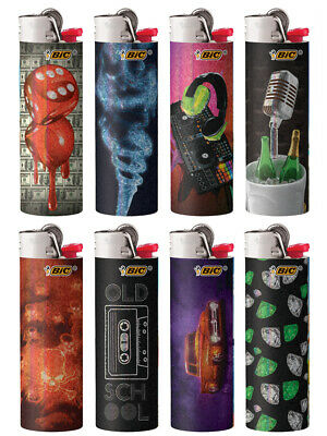 BIC Special Edition Hip Nation Series Lighters, 2018, Set of 8 Lighters