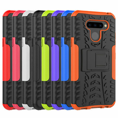 Shockproof Rugged Armor Hybrid Kickstand Protective Case Cover For LG Q60 / K50