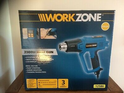 Workzone Digital 2300w Heat Gun Ideal for drying & thawing, stripping paint, BN
