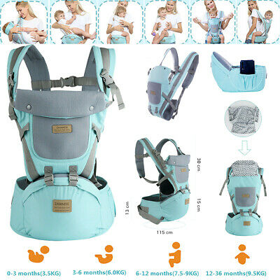 Newborn Infant Baby Carrier Breathable Ergonomic Adjustable Wrap Sling Backpack